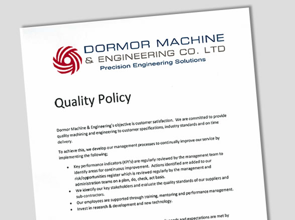 Download our Quality Policy
