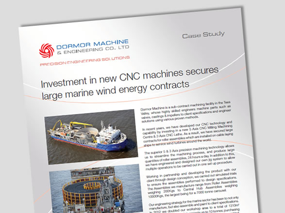 Investment in new CNC machines secures large marine wind energy contracts